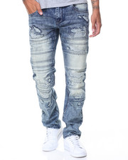 Buyers Picks - Waxed Motto Pleats/Patched Jeans