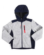 Boys - Hooded Colorblock Fleece Jacket (4-7)