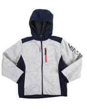Boys - Hooded Colorblock Fleece Jacket (8-20)