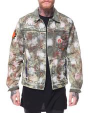 Men - Knighted Denim Bleached Jacket