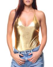 Fashion Lab - XBK Faux Leather S/L Bodysuit