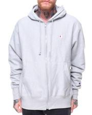 """Men - Reverse Weave Full Zip Left Chest """"C"""" Logo Hoody"""