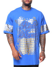 Shirts - S/S Rich Forever Foil Print Rhinestone Tee (B&T)