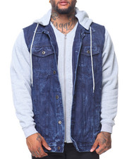 Men - Hooded Denim Jacket (B&T)