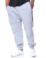 Men - Waterproof Zipper Fleece Jogger Pants (B&T)