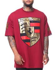 Men - S/S Rich Hustle Rhinestone Tee (B&T)