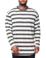 Long-Sleeve - L/S Scattered Rounded Bottom Tee (B&T)