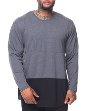 Buyers Picks - L/S Rounded Bottom Color Block Tee (B&T)
