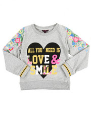 Tops - Glitter Print L/S Shirt (7-16)
