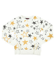 Tops - Glitter French Terry L/S Shirt (7-16)