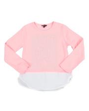 Tops - Chiffon Bottom Hacci L/S Shirt (7-16)