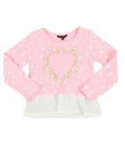 Girls - Foil Print Hacci L/S Shirt (4-6X)