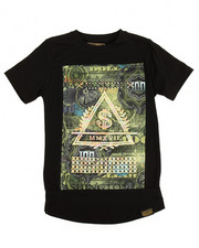 Boys - S/S 3D Embossed Money Print Tee (8-20)
