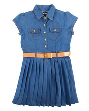 Dresses - Pleated Chambray Dress (7-16)