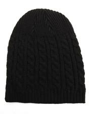 Hats - Cuffless Cableknit Beanie