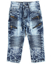 Boys - Moto Multi Zipper Jean (2T-4T)