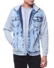 Fall-2017-Mens - Denim Jacket With Fleece Hooded