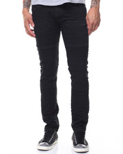 Jeans - Knee Embossing Coated Jeans
