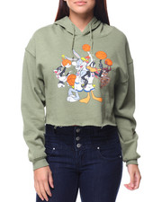 Graphix Gallery - Looney Tunes Space Jam Cropped Hoodie