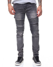Jeans - Double Zipper Motto Jeans