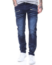MADBLUE - Orion Blue Basic Zipper Pockets Jeans