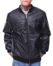 Outerwear - Vegan Leather Bomber Jacket