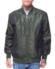 Outerwear - Nylon Irridecent Bomber Jacket