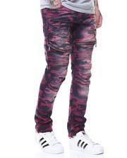 Men - Camo Motto Jeans Zipper Pocket