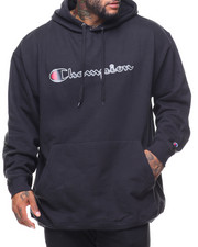 Hoodies - Retro Champion Script Pullover Fleece Hoodie (B&T)