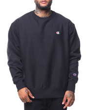 Sweatshirts & Sweaters - Reverse Weave Sherpa Script Graphic Crew