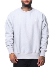 Pullover Sweatshirts - Reverse Weave Sherpa Script Graphic Crew