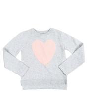 Girls - Eyelash Heart Applique Sweater (4-6X)