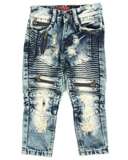 Boys - Moto Multi Zipper Jeans (2T-4T)