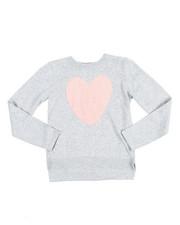 Girls - Eyelash Heart Aplique Sweater (7-16)