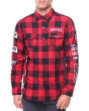 Shirts - L/S Daze Plais Woven