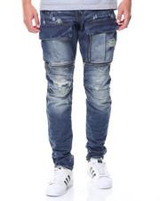 Jeans - Embossed Jeans Zipper Pockets