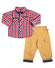 Infant & Newborn - 2 Piece Plaid/Pant Long Set (Infant)