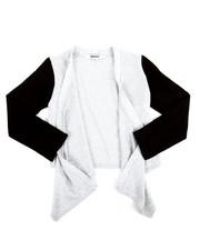 Girls - Cozy Flare Sweater w/PU Sleeve (4-6X)