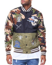 Outerwear - Pieced Camo Jacket