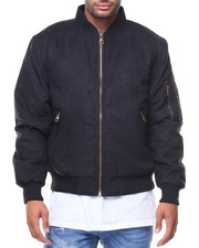 Outerwear - Delight Faux Suede Bomber Jacket