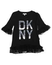 Girls - DKNY Tulle Ruffle Top (7-16)