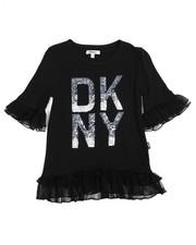 Girls - DKNY Tulle Ruffle Top (7-16)