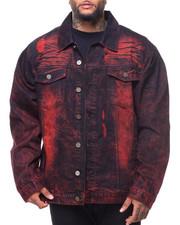 Outerwear - Destructed Long Sleeve Denim Jacket (B&T)
