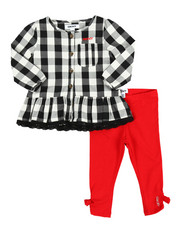 Girls - Check 2 Piece Set (Infant)