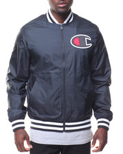 "Men - ""C"" Logo Satin Baseball Jckt"