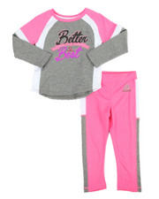 Girls - Color Block Better Than 2 Piece Set (2T-4T)