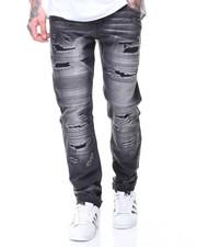 Jeans - MOTO PLEATS/PATCHED JEANS
