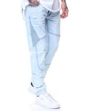 Jeans - Blue Mist Motto Knee Trim Jeans