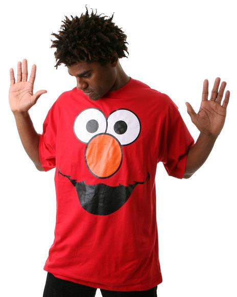 Disney/Sesame Street - Men Red Elmo Big Face Tee