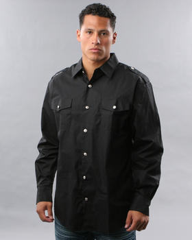 Basic Essentials - MILITARY WOVEN SHIRT